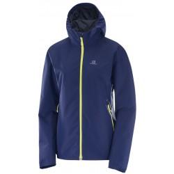 Salomon Essential JKT W medieval blue 393800 dámská nepromokavá bunda