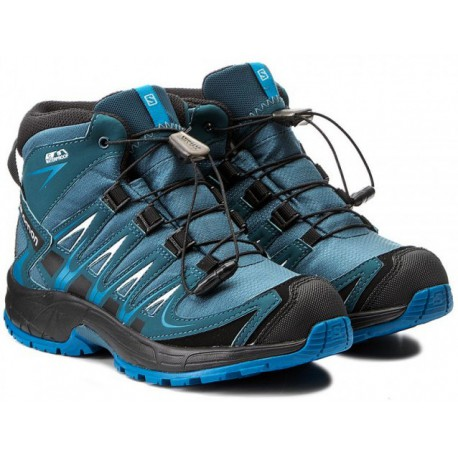 Salomon XA Pro 3D Mid CSWP K mallard blue r. pond 398532 dětské nepromokavé  trekové boty dad728d442