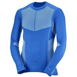 Salomon Primo Warm LS CN Tee M myconos blue 397148 pánské triko dlouhý rukáv