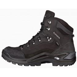 Lowa Renegade GTX Mid black/black pánské nepromokavé kožené trekové boty