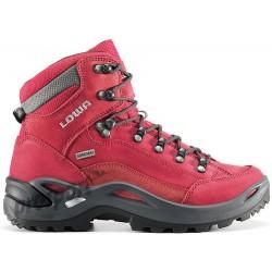 Lowa Renegade GTX Mid W red dámské nepromokavé kožené trekové boty