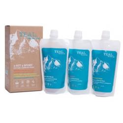 Teal 3 Set 4 Sport 3x250 ml set 3 pracích gelů z mýdlových ořechů1