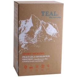 Teal Sport Merino 2x 1l prací gel z mýdlových ořechů s lanolinem na vlnu a merinovlnu