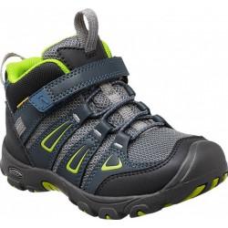 Keen Oakridge Mid WP K midnight navy/macaw dětské nepromokavé trekové boty