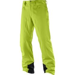 Salomon Icemania Pant M acid lime 397344 pánské nepromokavé zimní lyžařské kalhoty