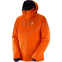 Salomon Stormrace Jacket M vivid orange 397360 pánská nepromokavá zimní lyžařská bunda 10