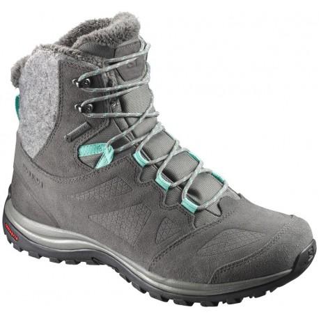 e4a6f82c6e4 Salomon Ellipse Winter GTX W castor gray beluga green 398550 dámské zimní  nepromokavé boty
