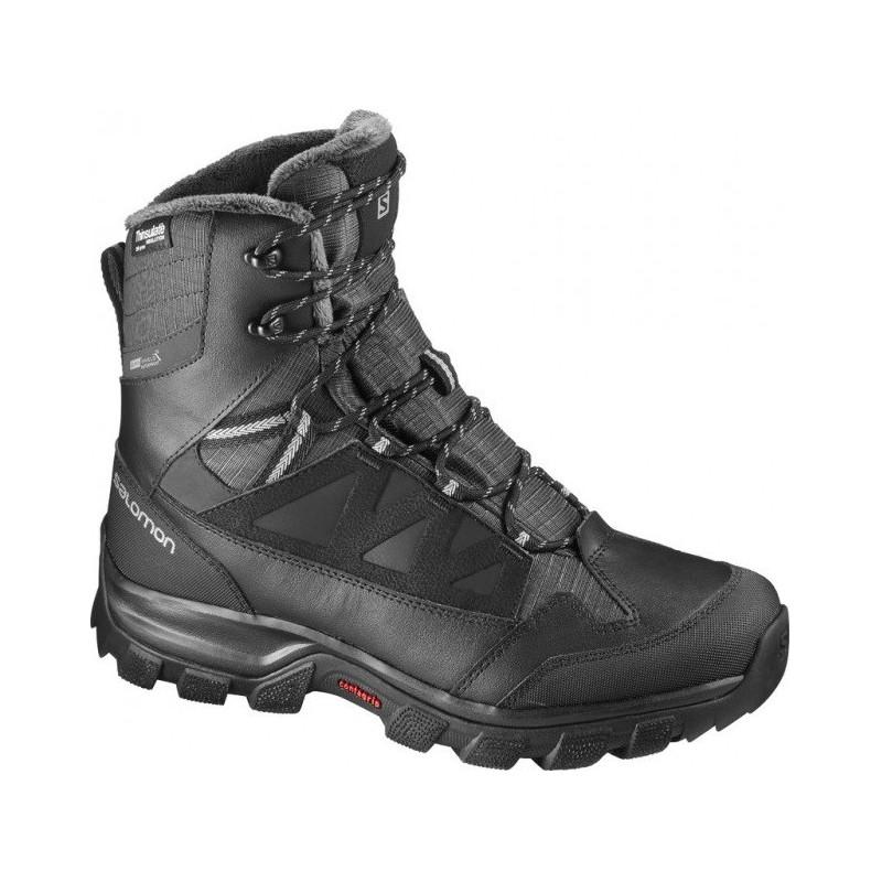 6939972322 Salomon Chalten TS CSWP black asphalt pewter 391731 pánské zimní  nepromokavé boty