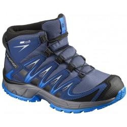Salomon XA Pro 3D Mid CSWP J Slateblue/Blue depth 390296 dětské nepromokavé trekové boty
