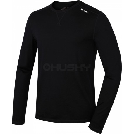545d9b131 Husky Merino 100 Long Sleeve M černá pánské triko dlouhý rukáv Merino vlna