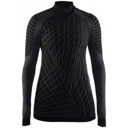 Craft Active Intensity Zip W black/granite 1905334-999985 dámské triko dlouhý rukáv
