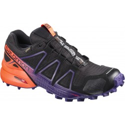 Salomon Speedcross 4 GTX LTD W black/nasturtium 401780 dámské nepromokavé běžecké boty (1)