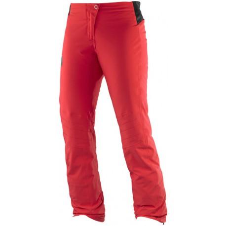 Salomon Whitelight Pant W infrared 382416 dámské nepromokavé zimní lyžařské kalhoty