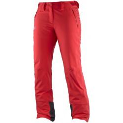 Salomon Iceglory Pant W infrared 382617 dámské nepromokavé zimní lyžařské kalhoty