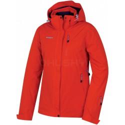 Husky Gairi L červená dámská nepromokavá zimní lyžařská bunda HuskyTech Stretch 15000 1