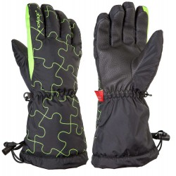 Relax Puzzy RR15A junior černá neonově žlutá dětské lyžařské rukavice