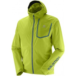 Salomon Bonatti Pro WP JKT M lime green 398944 pánská nepromokavá bunda Pertex Shield+