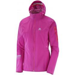 Salomon Lightning Pro WP JKT W rose violet 393795 dámská nepromokavá bunda Pertex Shield+