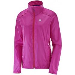 Salomon Agile Wind Jkt W rose violet 392699 dámská lehká větruodolná bunda