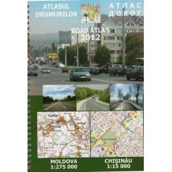 Ingeocad Moldavsko/Moldávie 1:275 000 autoatlas
