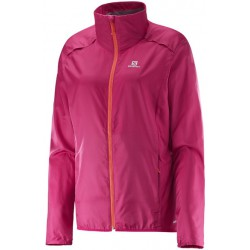 Salomon Agile Jacket W gaura pink 382776 dámská lehká větruodolná bunda