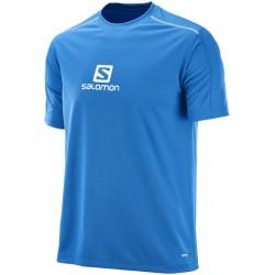 Salomon Stroll Logo SS Tee M lime prince blue 392805 pánské triko krátký rukáv