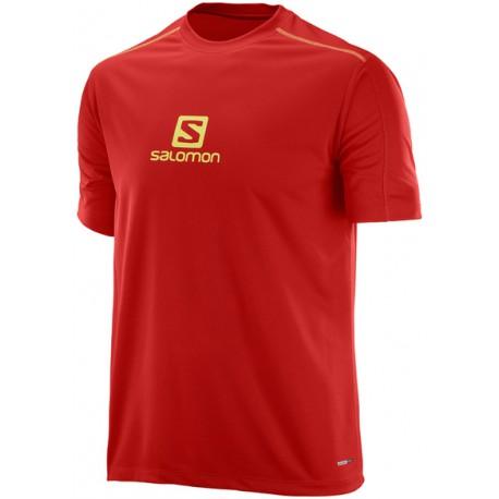 Salomon Stroll Logo SS Tee M matador 392808 pánské triko krátký rukáv