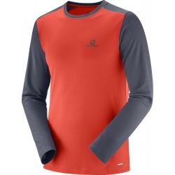 Salomon Stroll LS Tee M fiery red graphite 404064 pánské triko dlouhý rukáv 8652c48cae