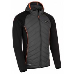 Kilpi Adventure-M tmavě šedá pánská větrudolná bunda částečně zateplená