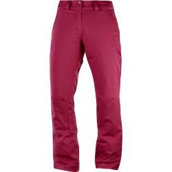 Salomon Stormpunch Pant W beet red 404449 dámské nepromokavé zimní lyžařské kalhoty