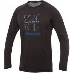 Direct Alpine Furry Long 1.0 anthracite (activity) pánské triko dlouhý rukáv Merino