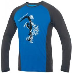 Direct Alpine Furry Long 1.0 blue (hard ice) pánské triko dlouhý rukáv Merino