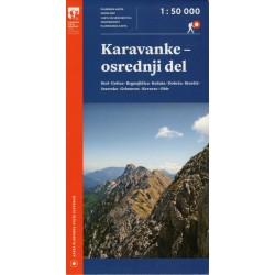 Geodetski Karavanky střed 1:50 000 turistická mapa