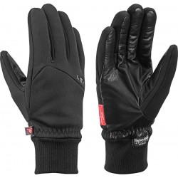 Leki Hiker Pro black unisex větruodolné rukavice Gore Windstopper Primaloft