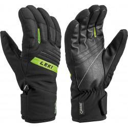 Leki Space GTX black/lime pánské lyžařské rukavice