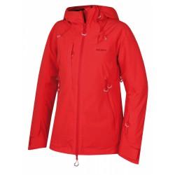 Husky Gombi L jemná červená dámská nepromokavá zimní lyžařská bunda