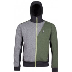 High Point Woolcan 4.0 Hoody grey/fall green pánská vlněná mikina