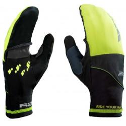 R2 Cover ATR21B černá/neonově žlutá unisex lehké rukavice (1)
