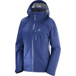 Salomon One + Only JKT W medieval blue 403939 dámská nepromokavá bunda Pertex Shield