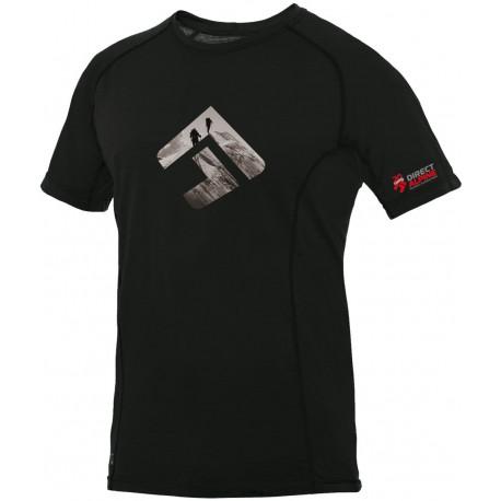 Direct Alpine Furry 1.0 black (brand 20 let) pánské triko krátký rukáv Merino