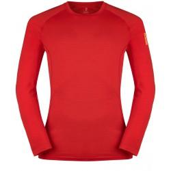 Zajo Bjorn Merino T-shirt LS racing red pánské triko dlouhý rukáv