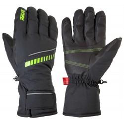 _Relax Down RR12B černá neonově žlutá pánské lyžařské rukavice změřeno