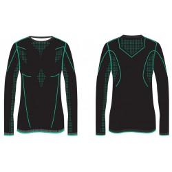 _R2 ATF202B black mint dámské termo triko dlouhý rukáv změřeno