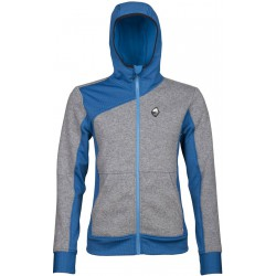 High Point Woolcan 4.0 Lady Hoody grey/blue dámská vlněná mikina Tecnowool/Tecnostretch