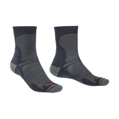 763242a20b8 Bridgedale Hike Ultra Light T2 Merino Performance Crew black trekové ponožky  Merino vlna