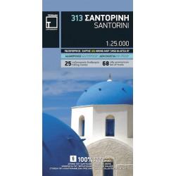 TERRAIN 313 Santorini 1:25 000 turistická mapa (1)