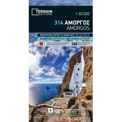 TERRAIN 314 Amorgos 1:30 000 turistická mapa