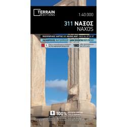 TERRAIN 311 Naxos 1:40 000 turistická mapa