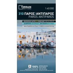 TERRAIN 310 Paros, Antiparos 1:40 000 turistická mapa