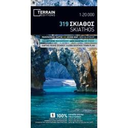 TERRAIN 319 Skiathos 1:20 000 turistická mapa (1)